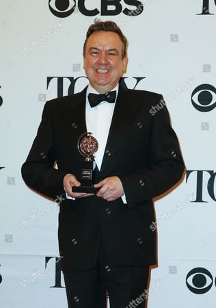 Scottish Actor Richard Mccabe Winner of the Award For Best Performance by an Actor in a Featured Role in a Play For 'The Audience ' Poses in the Press Room at the 2015 Tony Awards at Radio City Music Hall in New York New York Usa 07 June 2015 the Annual Awards Honor Excellence in Broadway Theatre United States New York
