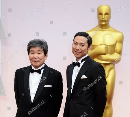 Director Isao Takahata (l) and Producer Yoshiaki Nishimura (r) Arrive For the 87th Annual Academy Awards Ceremony at the Dolby Theatre in Hollywood California Usa 22 February 2015 the Oscars Are Presented For Outstanding Individual Or Collective Efforts in 24 Categories in Filmmaking United States Hollywood