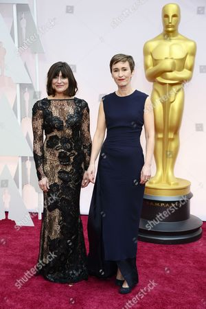 Maria Djurkovic (l) and Tatiana Macdonald (r) Arrive For the 87th Annual Academy Awards Ceremony at the Dolby Theatre in Hollywood California Usa 22 February 2015 the Oscars Are Presented For Outstanding Individual Or Collective Efforts in 24 Categories in Filmmaking United States Hollywood