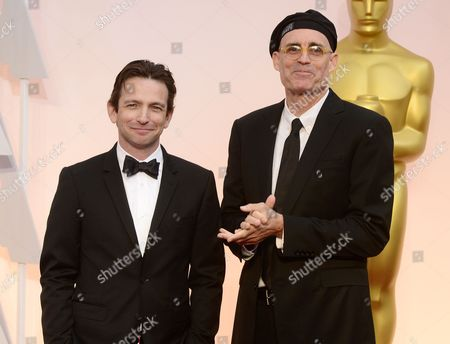 Stock Image of E Max Frye (r) and Dan Futterman (l) Arrive For the 87th Annual Academy Awards Ceremony at the Dolby Theatre in Hollywood California Usa 22 February 2015 the Oscars Are Presented For Outstanding Individual Or Collective Efforts in 24 Categories in Filmmaking United States Hollywood