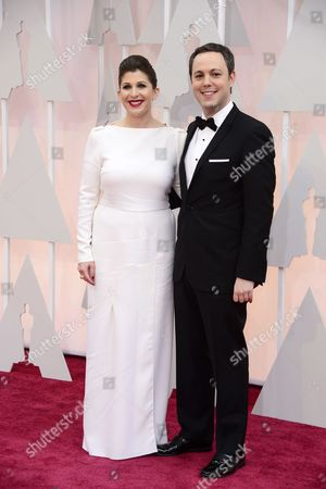 Stock Picture of Ido Ostrowsky (r) and Nora Grossman (l) Arrive For the 87th Annual Academy Awards Ceremony at the Dolby Theatre in Hollywood California Usa 22 February 2015 the Oscars Are Presented For Outstanding Individual Or Collective Efforts in 24 Categories in Filmmaking United States Hollywood