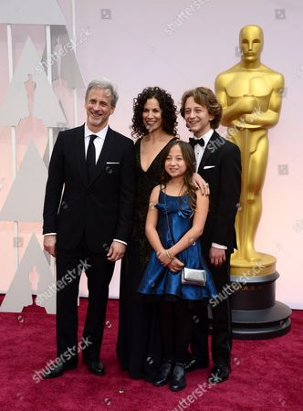 William Goldenberg (l) and Family Arrive For the 87th Annual Academy Awards Ceremony at the Dolby Theatre in Hollywood California Usa 22 February 2015 the Oscars Are Presented For Outstanding Individual Or Collective Efforts in 24 Categories in Filmmaking United States Hollywood