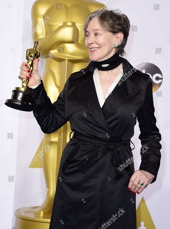 Milena Canonero Poses with Her Academy Award For Best Costume Design For 'The Grand Budapest Hotel' in the Press Room During the 87th Annual Academy Awards Ceremony at the Dolby Theatre in Hollywood California Usa 22 February 2015 the Oscars Are Presented For Outstanding Individual Or Collective Efforts in 24 Categories in Filmmaking United States Hollywood