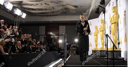 Milena Canonero with Her Academy Award For Costume Design For 'The Grand Budapest Hotel' in the Press Room During the 87th Annual Academy Awards Ceremony at the Dolby Theatre in Hollywood California Usa 22 February 2015 the Oscars Are Presented For Outstanding Individual Or Collective Efforts in 24 Categories in Filmmaking United States Hollywood