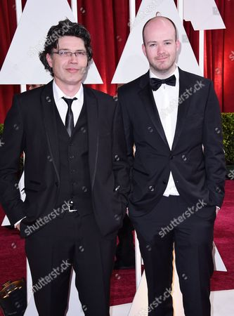 Stock Image of Ronan Blaney (l) and Michael Lennox (r) Arrive For the 87th Annual Academy Awards Ceremony at the Dolby Theatre in Hollywood California Usa 22 February 2015 the Oscars Are Presented For Outstanding Individual Or Collective Efforts in 24 Categories in Filmmaking United States Hollywood