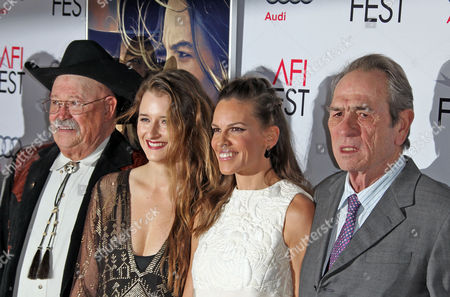 A Picture Made Available 12 November Shows (from L - R) Us Actors Barry Corbin Grace Gummer Hilary Swank and Tommy Lee Jones Attending the Afi Fest Special Screening of Tommy Lee Jones' Film 'The Homesman' at the Dolby Theatre in Hollywood California 11 November 2014 Afi Fest 2014 is Presented by Audi and the Special Screening Forms the Centerpiece Gala Feature United States Hollywood
