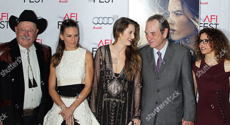 A Picture Made Available 12 November Shows Us Actors (from L - R) Barry Corbin Hilary Swank Grace Gummer Tommy Lee Jones and His Wife Dawn Jones Attending the Afi Fest Special Screening of Tommy Lee Jones' Film 'The Homesman' at the Dolby Theatre in Hollywood California 11 November 2014 Afi Fest 2014 is Presented by Audi and the Special Screening Forms the Centerpiece Gala Feature United States Hollywood