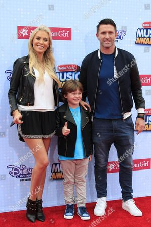 Irish Soccer Player Robbie Keane Arrive with Wife Claudine Palmer and Son Robert Arrive on the Red Carpet For the 2015 Radio Disney Music Awards at Nokia Theatre La Live in Los Angeles California Usa 25 April 2015 the Show Airs in the Us on 26 April United States Los Angeles
