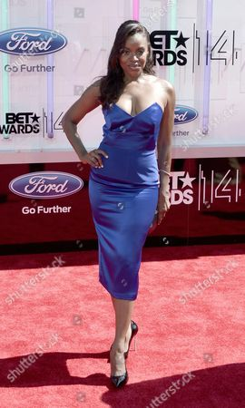 Stock Image of Us Actress Nadine Ellis Arrives For the 2014 Black Entertainment Television (bet) Awards in Los Angeles California Usa 29 June 2014 the Bet Awards Honor Entertainers in Music Movies and Sports Figures in the Entertainment Industry United States Los Angeles