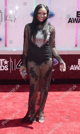 Us Actress Erica Hubbard Arrives For the 2014 Black Entertainment Television (bet) Awards in Los Angeles California Usa 29 June 2014 the Bet Awards Honor Entertainers in Music Movies and Sports Figures in the Entertainment Industry United States Los Angeles
