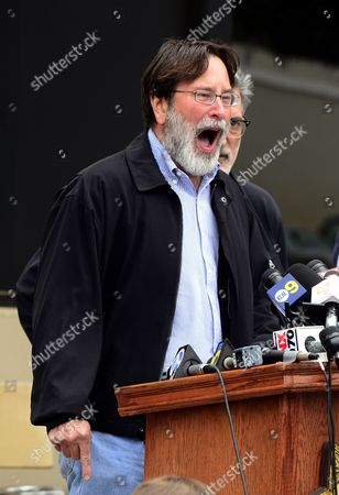 Richard Martinez the Father of Mass Shooting Victim Christopher Martinez Expresses His Anger and Sorrow As He Speaks to the Media Outside the Santa Barbara County Sheriffs Headquarters in Goleta California Usa 24 May 2014 Eliott Roger the Suspected Gunman Killed Six People and Wounded Seven As He Drove Through the Ucsb College Town of Isla Vista Shooting As Well As Running Over Victims in His Car Before He Died Either in the Shoot-out with Police Or From a Self-inflicted Wound Martinez Blamed the Nra (national Rifle Association) America's Gun Culture and a Failed Mental Health Care System For His Son's Death United States Goleta