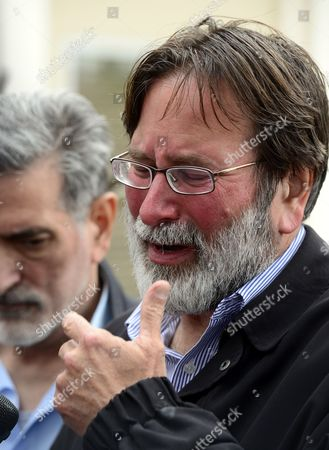 Richard Martinez the Father of Mass Shooting Victim Christopher Martinez Cries As He Speaks to the Media Outside the Santa Barbara County Sheriffs Headquarters in Goleta California Usa 24 May 2014 Eliott Roger the Suspected Gunman Killed Six People and Wounded Seven As He Drove Through the Ucsb College Town of Isla Vista Shooting As Well As Running Over Victims in His Car Before He Died Either in the Shoot-out with Police Or From a Self-inflicted Wound United States Goleta