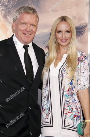 Us Actor Anthony Michael Hall (l) and Actress Lucia Oskerova Arrive at the Premiere of 'The Water Diviner' at the Tcl Chinese Theatre Imax Laser in Hollywood California Usa 16 April 2015 the Movie Will Be Released in Us Theaters on 24 April United States Los Angeles