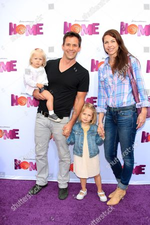 German Actor Christian Oliver Arrives with His Wife and Daughters For the Los Angeles Premiere of 'Home' at the Regency Village Theater in Westwood California Usa 22 March 2015 the 3d Animated Movie Opens in Us Theaters on 27 March United States Los Angeles