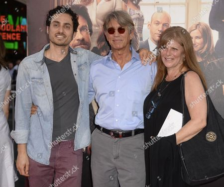 Stock Image of Us Actor Eric Roberts (c) His Wife Eliza Garrett (r) and Us Musician Keaton Simons (l) Arrive For the Premiere of 'This is where i Leave You' in Hollywood California Usa 15 September 2014 United States Hollywood
