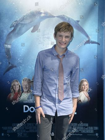 Us Actor/cast Member Nathan Gamble Arrives For the Premiere of 'Dolphin Tale 2' in Westwood California Usa 07 September 2014 the Movie Opens in Us Theaters on 12 September United States Westwood