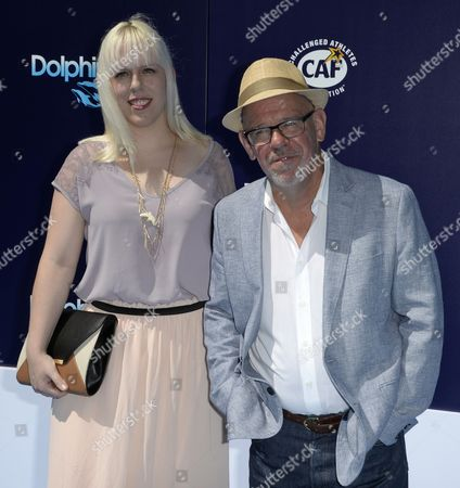 Us Writer-director Charles Martin Smith (r) and His Daughter Anna (l) Arrive For the Premiere of 'Dolphin Tale 2' in Westwood California Usa 07 September 2014 the Movie Opens in Us Theaters on 12 September United States Westwood