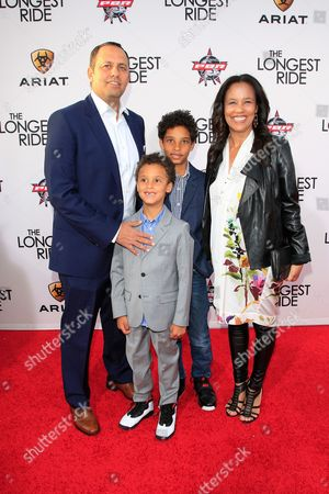 Us Executive Producer Robert Teitel (l) Arrives with His Wife and Sons at the Premiere of 'The Longest Ride' at Tcl Chinese Theater in Hollywood Los Angeles California Usa 06 April 2015 the Movie Will Be Released on Us Theaters on 10 April United States Los Angeles