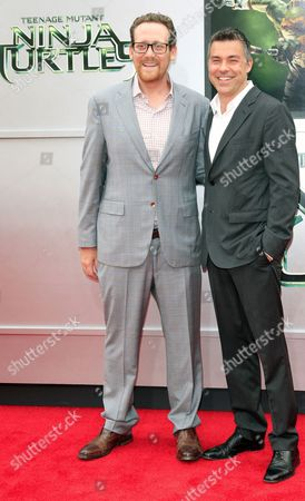 Us Writers Josh Appelbaum (l) and Andre Nemec Arrive at the Los Angeles Premiere of 'Teenage Mutant Ninja Turtles' at the Regency Village Theater in Westwood California Usa 03 August 2014 the Movie Opens in the Us Theaters on 08 August 2014 United States Los Angeles