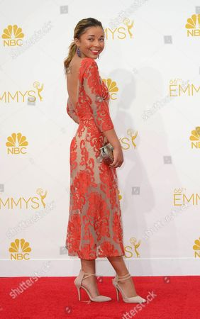 Zoe Soul Arrives For the 66th Annual Primetime Emmy Awards Held at the Nokia Theatre in Los Angeles California Usa 25 August 2014 the Primetime Emmy Awards Celebrate Excellence in National Primetime Television Programming United States Los Angeles
