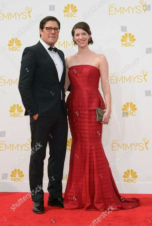 Rich Sommer and Virginia Donohoe (r) Arrive For the 66th Annual Primetime Emmy Awards Held at the Nokia Theatre in Los Angeles California Usa 25 August 2014 the Primetime Emmy Awards Celebrate Excellence in National Primetime Television Programming United States Los Angeles