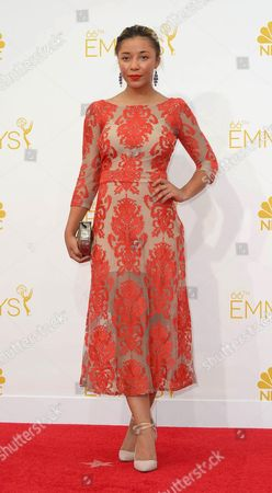 Stock Photo of Zoe Soul Arrives For the 66th Annual Primetime Emmy Awards Held at the Nokia Theatre in Los Angeles California Usa 25 August 2014 the Primetime Emmy Awards Celebrate Excellence in National Primetime Television Programming United States Los Angeles