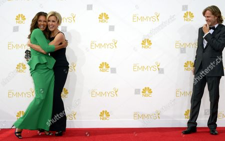 Vanessa Williams (l) Felicity Huffman (c) and William H Macy (r) Arrive For the 66th Annual Primetime Emmy Awards Held at the Nokia Theatre in Los Angeles California Usa 25 August 2014 the Primetime Emmy Awards Celebrate Excellence in National Primetime Television Programming United States Los Angeles