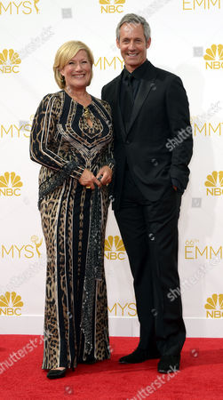 Jayne Atkinson (l) and Michael Gill Arrive For the 66th Annual Primetime Emmy Awards Held at the Nokia Theatre in Los Angeles California Usa 25 August 2014 the Primetime Emmy Awards Celebrate Excellence in National Primetime Television Programming United States Los Angeles