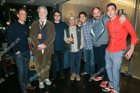 (l-r) Us Comedians Seth Myers Kevin Kline Eugene Mirman H Jon Benjamin Dan Mintz Loren Bouchard and John Roberts Attend the Bob's Burgers Live Comedy Show at the Beacon Theater in New York City New York Usa 27 March 2015 United States New York City