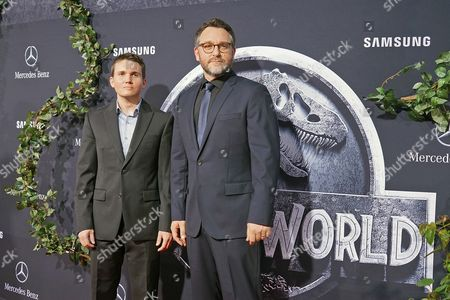 Us Writer Derek Connolly (l) Arrives with Us Director/writer Colin Trevorrow (r) For the World Premiere of 'Jurassic World' at the Dolby Theatre and Tcl Chinese Theatre Imax in Hollywood Los Angeles California Usa 09 June 2015 the Movie Opens in the Us on 12 June 2015 United States Los Angeles