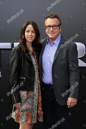 Us Actor Tom Arnold Arrives with His Wife Ashley Groussman (l) For the Los Angeles Premiere of Paramount Pictures 'Terminator Genisys' at the Dolby Theatre in Hollywood Los Angeles California Usa 28 June 2015 the Movie Opens in Us Theaters on 01 July 2015 United States Los Angeles