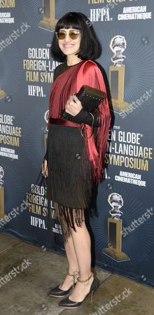 Israeli Co-director and Actress Ronit Elkabetz From the Film 'Gett: the Trial of Viviane Amsalem' Attends the Golden Globe Foreign-language Nominee Symposium at the Egyptian Theatre in Hollywood California Usa 10 January 2015 United States Hollywood