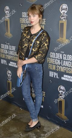 Polish Actress Agata Trzebuchowska From the Film 'Ida' Attends the Golden Globe Foreign-language Nominee Symposium at the Egyptian Theatre in Hollywood California Usa 10 January 2015 United States Hollywood