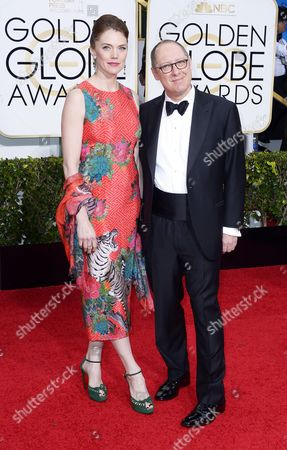 James Spader (r) and Leslie Stefanson (l) Arrive For the 72nd Annual Golden Globe Awards at the Beverly Hilton Hotel in Beverly Hills California Usa 11 January 2015 United States Beverly Hills
