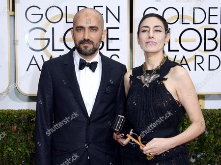 Shlomi Elkabetz (l) and Ronit Elkabetz (r) Arrive For the 72nd Annual Golden Globe Awards at the Beverly Hilton Hotel in Beverly Hills California Usa 11 January 2015 United States Los Angeles