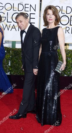 Christophe Waltz and Wife Arrive For the 72nd Annual Golden Globe Awards at the Beverly Hilton Hotel in Beverly Hills California Usa 11 January 2015 United States Los Angeles