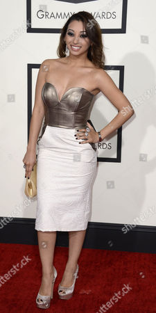 Us Singer Desiree' Estrada Arrives For the 56th Annual Grammy Awards Held at the Staples Center in Los Angeles California Usa 26 January 2014 United States Los Angeles