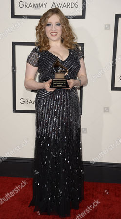 Us Violinist Rachel Barton Pine Arrives For the 56th Annual Grammy Awards Held at the Staples Center in Los Angeles California Usa 26 January 2014 United States Los Angeles