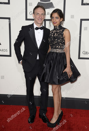 Canadian Composer Mychael Danna and Wife Aparna Danna (r) Arrive For the 56th Annual Grammy Awards Held at the Staples Center in Los Angeles California Usa 26 January 2014 United States Los Angeles