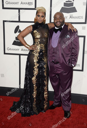 Us Singer Lashawn Daniels (r) and Wife April Daniels Arrive For the 56th Annual Grammy Awards Held at the Staples Center in Los Angeles California Usa 26 January 2014 United States Los Angeles