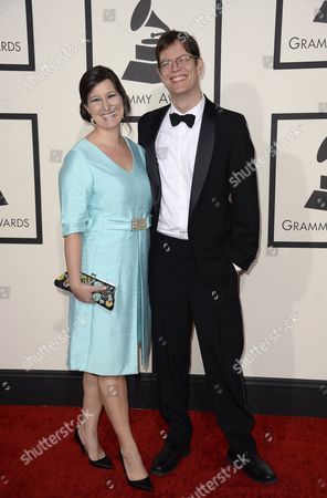 Us Saxophonist Donny Mccaslin (r) Arrives with His Wife For the 56th Annual Grammy Awards Held at the Staples Center in Los Angeles California Usa 26 January 2014 United States Los Angeles