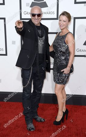Us Drummer Kenny Aronoff and Wife Georgina (r) Arrive For the 56th Annual Grammy Awards Held at the Staples Center in Los Angeles California Usa 26 January 2014 United States Los Angeles