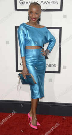 Us Singer Valisia Lekae Arrives For the 56th Annual Grammy Awards Held at the Staples Center in Los Angeles California Usa 26 January 2014 United States Los Angeles