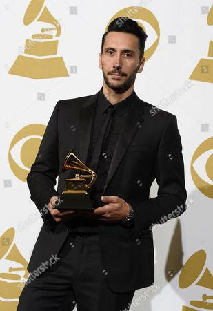 French Producer Cedric Gervais Holds the Award For Best Remixed Recording Non-classical 'Summertime Sadness (cedric Gervais Remix) at the 56th Annual Grammy Awards at the Staples Center in Los Angeles California Usa 26 January 2014 United States Los Angeles