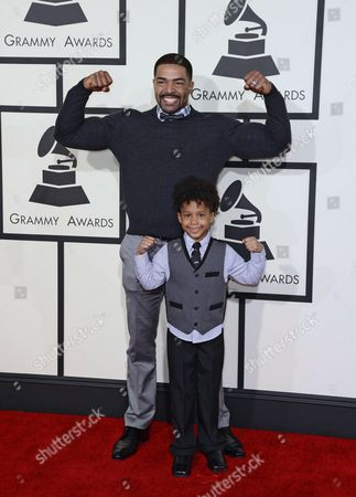 David Otunga and David Jr Arrive For the 57th Annual Grammy Awards Held at the Staples Center in Los Angeles California Usa 08 February 2015 United States Los Angeles