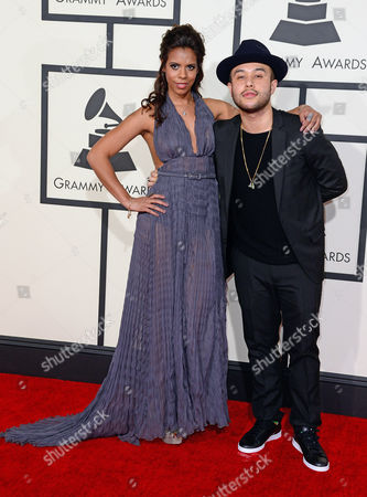 Kelli Leigh (l) and Jax Jones Arrive For the 57th Annual Grammy Awards Held at the Staples Center in Los Angeles California Usa 08 February 2015 United States Los Angeles