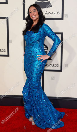Leslie Cartaya Arrives For the 57th Annual Grammy Awards Held at the Staples Center in Los Angeles California Usa 08 February 2015 United States Los Angeles