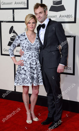 Claire Coffee (l) and Chris Thile Arrive For the 57th Annual Grammy Awards Held at the Staples Center in Los Angeles California Usa 08 February 2015 United States Los Angeles