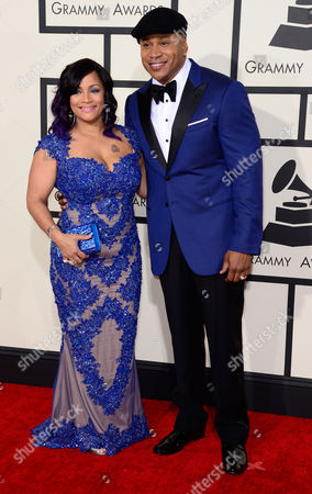 Ll Cool J and His Wife Simone (l) Arrive For the 57th Annual Grammy Awards Held at the Staples Center in Los Angeles California Usa 08 February 2015 United States Los Angeles