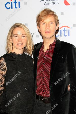 Us Actress Marissa Ribisi and Husband Singer Beck Pose at the Universal Music Group Grammy After Party in Los Angeles California Usa 08 February 2015 This Party is Held at the Theatre at Ace Hotel After the 57th Annual Grammy Awards in Los Angeles United States Los Angeles